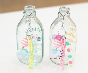 bottle, cute, and glass image