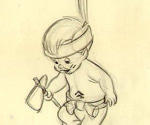 disney, drawing, and peter pan image
