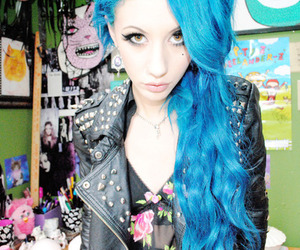 hair, blue hair, and natasha lillipore image