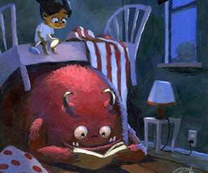 monster, book, and art image