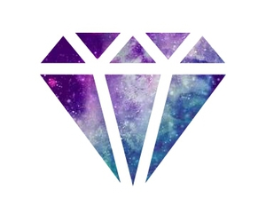 background, diamond, and galaxy image