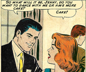 cake, vintage, and comic image