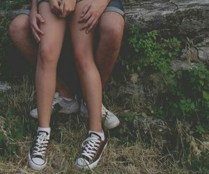 converse, couple, and legs image