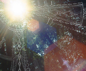 hippie, nature, and sun image