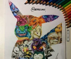 pokemon, art, and drawing image