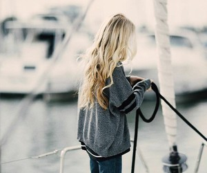 blonde, boat, and fashion image