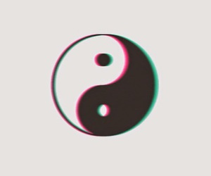 black and white, tumblr, and ying yang image