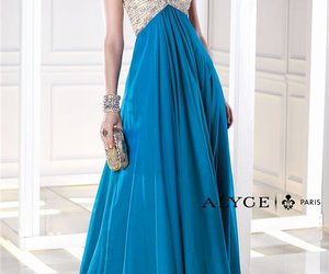 teal, long dress, and alyce 35695 image