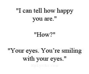 eyes, happy, and quote image