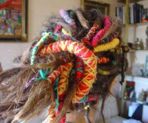color, rainbow, and hair wrap image