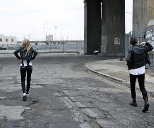 grunge, couple, and black image