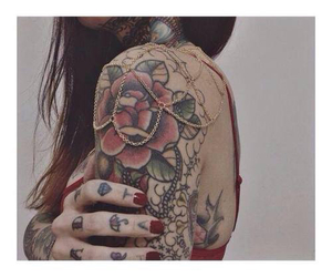 girl tattoo, Tattoos, and jewelry image