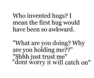 awkward, hug, and first image