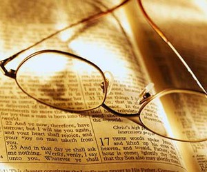 bible, glasses, and reading image