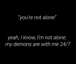 alone, demon, and depression image