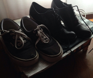 black, shoes, and vintage image