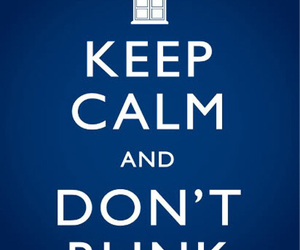 blue, don't blink, and doctor who image