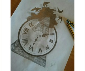 clock, pencil, and draw image