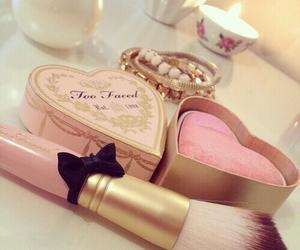 pink, makeup, and girly image