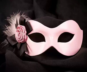 mask, pink, and girly image