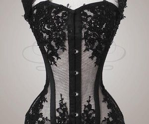 corset, tulle, and lace image