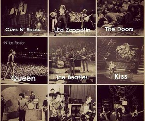 led zeppelin, the beatles, and the ramones image
