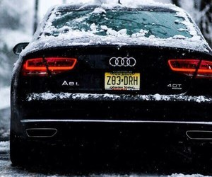 audi, car, and winter image