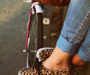 vans, jeans, and leopard image