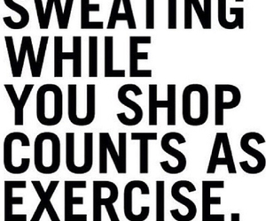 exercise, quote, and shopping image