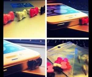 bows, iphone, and electronic image