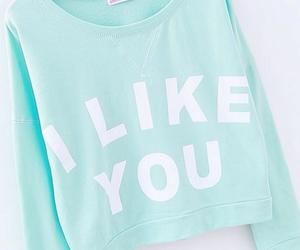 blue, i like you, and mint image