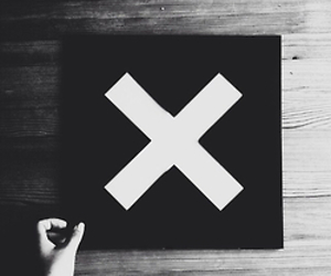 the xx, black and white, and music image
