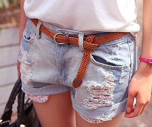 fashion, shorts, and belt image