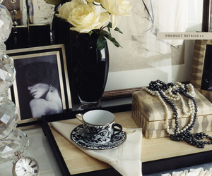 accessories, black and white, and decor image