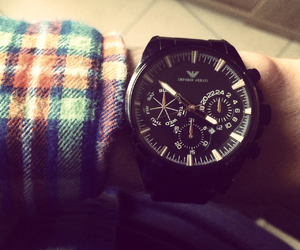 Armani, men, and watch image