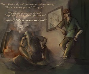 clothes, kvothe, and fire image