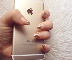 girly, iphone 6, and gold image