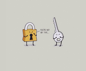 funny, key, and love image