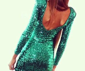 dress, green, and glitter image