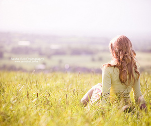 girl, field, and beautiful image