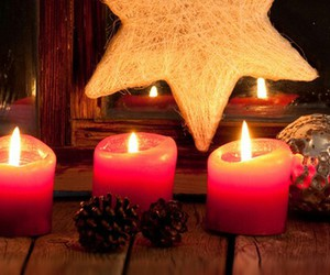 candles, christmas, and cold image