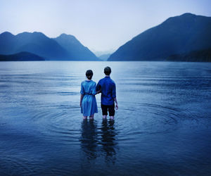 water, blue, and love image