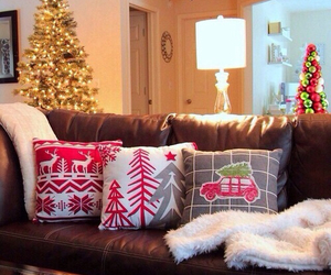 christmas, pillow, and interior image