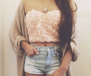 fashion, jeans, and croptop image
