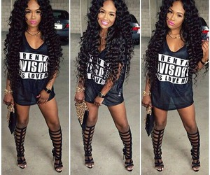 black, curls, and cute image