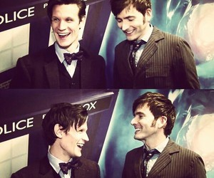 doctor who, matt smith, and david tennant image