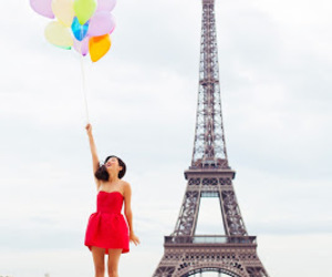 eiffel tower and girl image