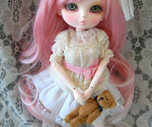 baby, doll, and hair image