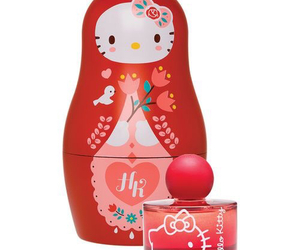 hello kitty, perfume, and red image