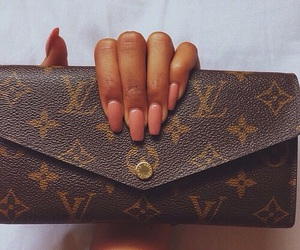 nails, Louis Vuitton, and luxury image